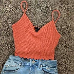 Forever 21 coral tank top